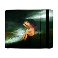 Hand Painted Lonliness Illustration Samsung Galaxy Tab Pro 8 4  Flip Case by TastefulDesigns