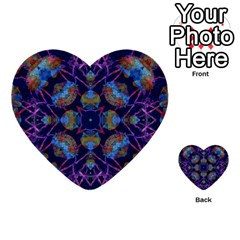 Ornate Mosaic Multi Purpose Cards (heart)  by dflcprints