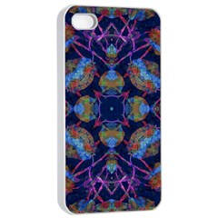 Ornate Mosaic Apple Iphone 4/4s Seamless Case (white) by dflcprints