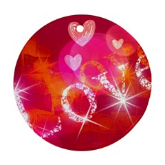 Love Round Ornament (Two Sides)  by SugaPlumsEmporium