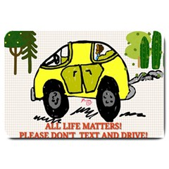 All Life Matters! Large Doormat  by SugaPlumsEmporium