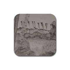 Peace In The Valley  Rubber Square Coaster (4 Pack)  by SugaPlumsEmporium
