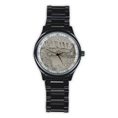 Peace In The Valley  Stainless Steel Round Watch