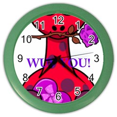 Wuv You! Color Wall Clocks by SugaPlumsEmporium
