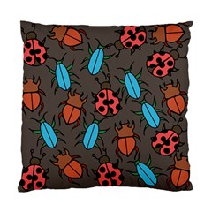 Beetles And Ladybug Pattern Bug Lover  Standard Cushion Case (two Sides)