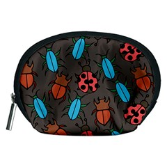 Beetles And Ladybug Pattern Bug Lover  Accessory Pouches (medium)
