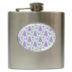 liliac flowers and leaves Pattern Hip Flask (6 oz) by TastefulDesigns
