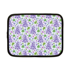 Liliac Flowers And Leaves Pattern Netbook Case (small)