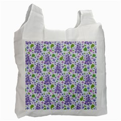 Liliac Flowers And Leaves Pattern Recycle Bag (one Side)