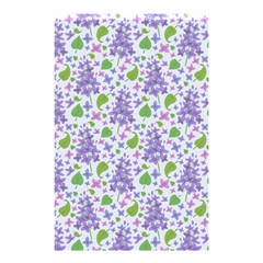Liliac Flowers And Leaves Pattern Shower Curtain 48  X 72  (small)  by TastefulDesigns