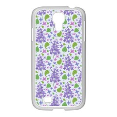 Liliac Flowers And Leaves Pattern Samsung Galaxy S4 I9500/ I9505 Case (white)