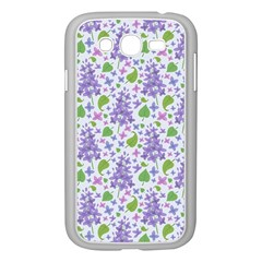 Liliac Flowers And Leaves Pattern Samsung Galaxy Grand Duos I9082 Case (white) by TastefulDesigns