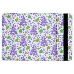 Liliac Flowers And Leaves Pattern Ipad Air 2 Flip by TastefulDesigns