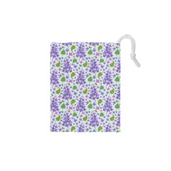 Liliac Flowers And Leaves Pattern Drawstring Pouches (xs)  by TastefulDesigns