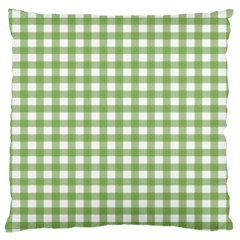 Avocado Green Gingham Classic Traditional Pattern Standard Flano Cushion Case (One Side) by CircusValleyMall