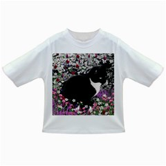 Freckles In Flowers Ii, Black White Tux Cat Infant/Toddler T-Shirts by DianeClancy