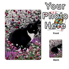 Freckles In Flowers Ii, Black White Tux Cat Multi Purpose Cards (rectangle)  by DianeClancy