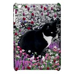 Freckles In Flowers Ii, Black White Tux Cat Apple Ipad Mini Hardshell Case by DianeClancy