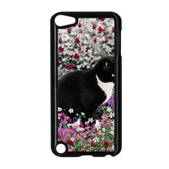 Freckles In Flowers Ii, Black White Tux Cat Apple Ipod Touch 5 Case (black) by DianeClancy