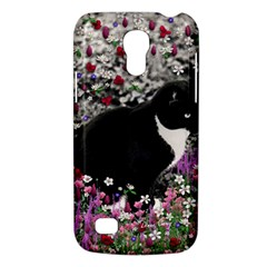 Freckles In Flowers Ii, Black White Tux Cat Galaxy S4 Mini by DianeClancy