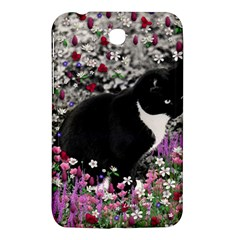 Freckles In Flowers Ii, Black White Tux Cat Samsung Galaxy Tab 3 (7 ) P3200 Hardshell Case  by DianeClancy