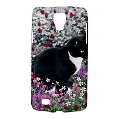Freckles In Flowers Ii, Black White Tux Cat Galaxy S4 Active by DianeClancy