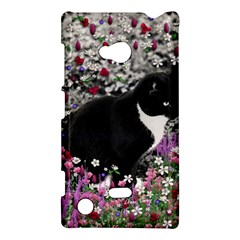 Freckles In Flowers Ii, Black White Tux Cat Nokia Lumia 720 by DianeClancy