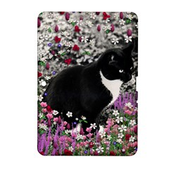 Freckles In Flowers Ii, Black White Tux Cat Samsung Galaxy Tab 2 (10 1 ) P5100 Hardshell Case  by DianeClancy