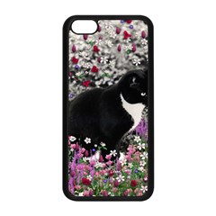 Freckles In Flowers Ii, Black White Tux Cat Apple Iphone 5c Seamless Case (black) by DianeClancy