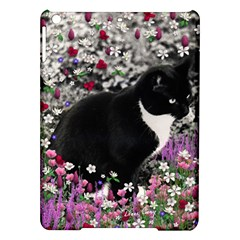 Freckles In Flowers Ii, Black White Tux Cat Ipad Air Hardshell Cases by DianeClancy
