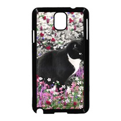 Freckles In Flowers Ii, Black White Tux Cat Samsung Galaxy Note 3 Neo Hardshell Case (black) by DianeClancy