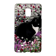 Freckles In Flowers Ii, Black White Tux Cat Galaxy Note Edge by DianeClancy