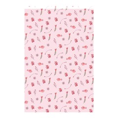 Cute Pink Birds And Flowers Pattern Shower Curtain 48  X 72  (small)  by TastefulDesigns