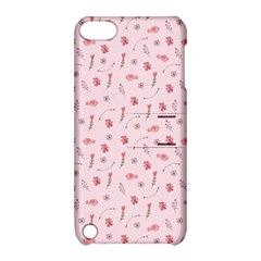 Cute Pink Birds And Flowers Pattern Apple Ipod Touch 5 Hardshell Case With Stand by TastefulDesigns
