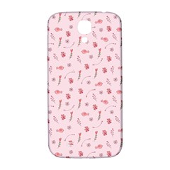 Cute Pink Birds And Flowers Pattern Samsung Galaxy S4 I9500/i9505  Hardshell Back Case by TastefulDesigns