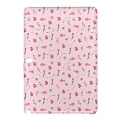 Cute Pink Birds And Flowers Pattern Samsung Galaxy Tab Pro 10.1 Hardshell Case by TastefulDesigns