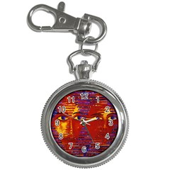 Conundrum Iii, Abstract Purple & Orange Goddess Key Chain Watches by DianeClancy