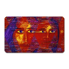 Conundrum Iii, Abstract Purple & Orange Goddess Magnet (rectangular) by DianeClancy