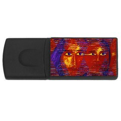 Conundrum Iii, Abstract Purple & Orange Goddess Usb Flash Drive Rectangular (4 Gb)  by DianeClancy