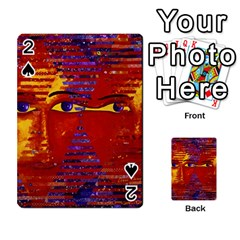 Conundrum Iii, Abstract Purple & Orange Goddess Playing Cards 54 Designs