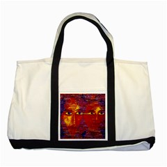 Conundrum Iii, Abstract Purple & Orange Goddess Two Tone Tote Bag by DianeClancy