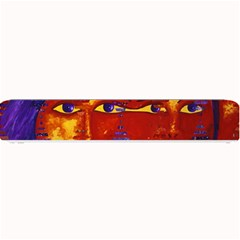 Conundrum Iii, Abstract Purple & Orange Goddess Small Bar Mats by DianeClancy