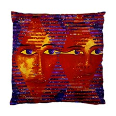 Conundrum Iii, Abstract Purple & Orange Goddess Standard Cushion Case (two Sides) by DianeClancy