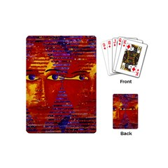 Conundrum Iii, Abstract Purple & Orange Goddess Playing Cards (mini)  by DianeClancy