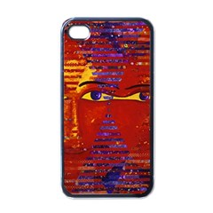Conundrum Iii, Abstract Purple & Orange Goddess Apple Iphone 4 Case (black) by DianeClancy