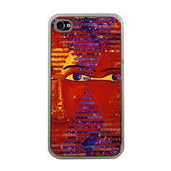Conundrum Iii, Abstract Purple & Orange Goddess Apple Iphone 4 Case (clear) by DianeClancy