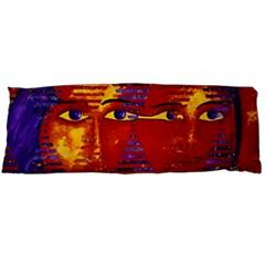 Conundrum Iii, Abstract Purple & Orange Goddess Body Pillow Case (dakimakura) by DianeClancy