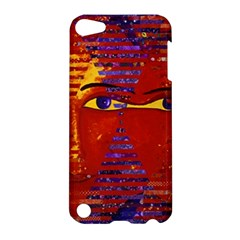 Conundrum Iii, Abstract Purple & Orange Goddess Apple Ipod Touch 5 Hardshell Case by DianeClancy
