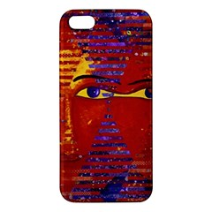 Conundrum Iii, Abstract Purple & Orange Goddess Apple Iphone 5 Premium Hardshell Case by DianeClancy