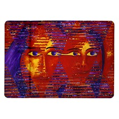 Conundrum Iii, Abstract Purple & Orange Goddess Samsung Galaxy Tab 10 1  P7500 Flip Case by DianeClancy